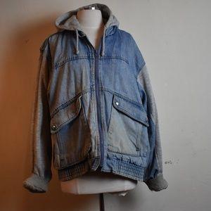 Jean and Sweatshirt Jacket